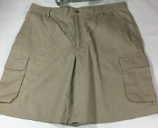 "Guy Harvey 34"" Bluewater, Khaki, 100% Cotton, Cargo, Men's Shorts, Canvas look"