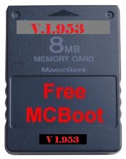 freemcboot Playstation 2 ps2 8 MB Card NES/SNES/SEGA GENESIS Free MCBoot v1.953