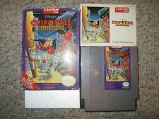 Disney's Chip 'N Dale: Rescue Rangers Nintendo NES, 1990 Complete in Box FAIR
