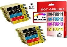 10 cartuchos tinta NonOem XL para Epson Stylus dx4200 dx4250 dx4800 dx4850