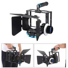 Aluminum DSLR Video Camera Cage Set with Top Handle Grip 15mm Rod Set S0V1