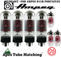 Tube Set - for Ampeg B15R Portaflex JJ Electronics/Tesla vacuum valve tubes
