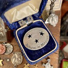 Good Luck Pocket Charm Miracles Graduation Coin Vtg Keepsake Protection Shrine +