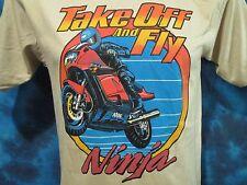 NOS vtg 80s KAWASAKI NINJA 1000R MOTORCYCLE T-Shirt SMALL motocross biker thin