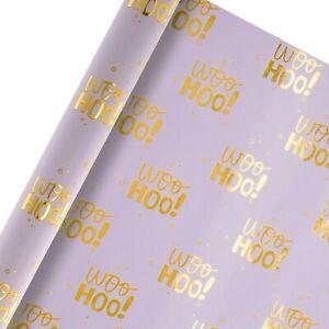 HALLMARK REVERSIBLE WOO HOO WRAPPING PAPER 2M ROLL BUY 2 GET 1 FREE