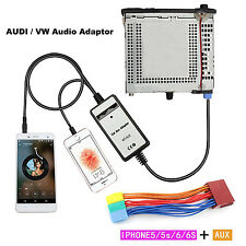 Car MP3 Player 3.5mm iphone5 6 Radio Interface AUX In Adapter For Audi Seat
