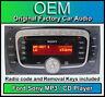 FORD SONY CD MP3 LETTORE, TRANSIT Radio Stereo con codice e chiavi di rimozione