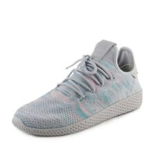 Adidas Pharrell Williams Mens Hu Race Tennis Sneakers Blue/Pink BY2671 Size 10.5