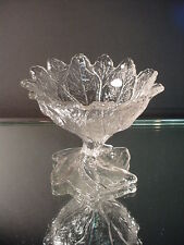 "Rare Cambridge Glass Everglade 4""H Crystal Footed Sherbet #24 Elegant Glass 1930"