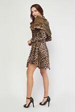 Women Faux Fur Shawl Brown Wedding Stole Wrap Shrug Scarf Evening Coat Snood