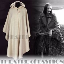 VINTAGE LAURA ASHLEY CAPE COAT HOOD M L XL XXL VICTORIAN CELTIC BOHO WALES RARE