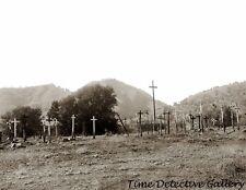 Yokut Indian Cemetery,Tule River Reservation, Calif. c1900- Historic Photo Print