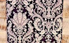 Traditional Silver White Paisley Damask on Black Wallpaper Modern Designer Diy