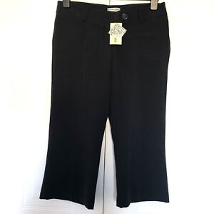 Internacionale Navy Blue Cropped Trousers Size 10 Pockets Buttons Smart BNWT