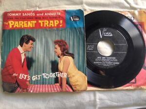 """Parent Trap Disney Tommy & Annette 7"""" Sleeve 45rpm Record original vinyl single"""