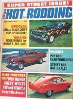 Popular Hot Rodding Magazine Small Block Chevy November 1973 082017nonrh2