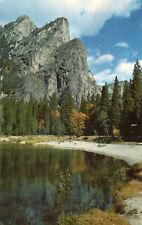 postcard USA  California Yosemite National Park three brothers unposted