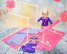 Beam & Bars Gymnastics Set with Mats,Leo,Backpack,Grips,Medal,& Carrying Bags