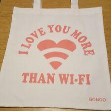 """BONGO Canvas Reusable Grocery Shopping Tote Bag 12.5"""" x 14"""""""