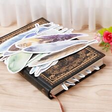 30 pcs/pack Colorful Feather Bookmark Paper Cartoon Animals Bookmark Gift