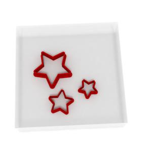 MINI/TINY 1.5CM/2CM/3CM Star Fondant Cutter Set Of 3 Icing Decoration Nightsky