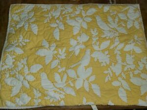 """Pottery Barn """"Songbird - Yellow"""" Quilted Standard Sham"""