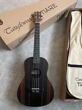 More details for ebony baritone size ukulele rrp £159 amazing  arched back + padded gig bag