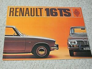 1970's RENAULT 16TS (FRANCE) SALES BROCHURE