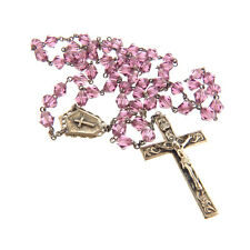 Antique Sterling Silver Purple Crystal Rosary