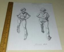 ORIGINAL CONCEPT ART BLACK DYNAMITE  ADULT SWIM Carl Jones drawn ? Soccer Mom