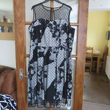 Joanna Hope Black/Ivory Occasion dress size 20 BNWT