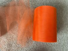4m of 150mm Wide Soft Nylon Orange Shimmer Tulle Netting Fabric Wedding/Tutu