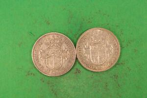 Rhodesien 21/2 Shillings 1934 ss selten + 21/2 Shillings 1944 fvz
