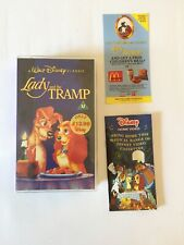 Walt Disney's Classic Lady And The Tramp Vintage With McDonald's Voucher