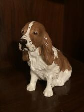"Vintage Royal Doulton Seated Spaniel, Brown/Ivory without Pheasant, 4 1/2"" Tall"