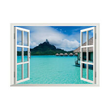 3D window Ocean-ZY041 Beautiful Mural Wall sticker wall decals