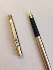 VINTAGE PAPER MATE GOLD PLATED MEDIUM FOUNTAIN PEN-CONVERTER-WEST GERMANY.