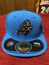 Akron Rubberducks Blue Alternate New Era Fitted Hat Size 7 1/8