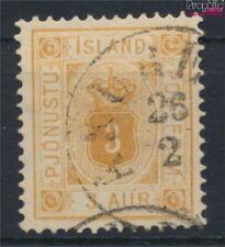Island D3A gestempelt 1902 Ziffer mit Krone (9223504