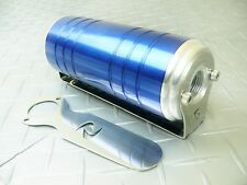 Blue -10 AN/ORB 100 Micron Stainless Steel Element Aluminum S-Max Fuel Filter