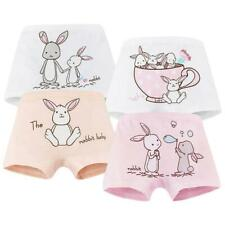 Kids Girls Cotton Boxer Briefs Cartoon Rabbit Print Toddler Underwear Panties