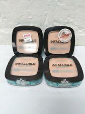 4 L'Oreal Infallible Pro Glow Longwear Pressed Powder  Shade 24 Natural Beige