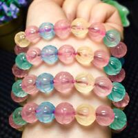 10mm Natural Color Quartz Crystal Beads Bracelet AAAA
