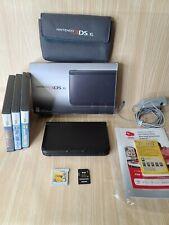 Nintendo 3DS XL Mint 4GB Black CiB plus Games Case and Memory Card Free Ship