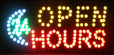 Flashing Motion Led Business 24-hour hours Open Sign On/Off Switch Light Neon
