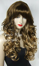 Long Curly Wig In Brown With Dark Blonde Highlights From Fumi Wigs UK