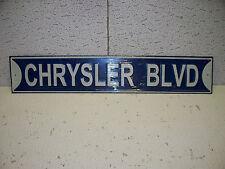 Chrysler Blvd. Metal Sign NICE ITEM 65 67 68 69 70 71 72 Fury New Yorker 300