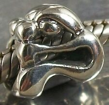 925 STERLING SILVER MOTHER and CHILD European CHARM BEAD oxidised finish