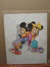 Vintage Micky and minni  disney poster 1986 2331