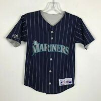 Boys Seattle Mariners Reversible Jersey Baseball MLB Short Sleeve Size S
